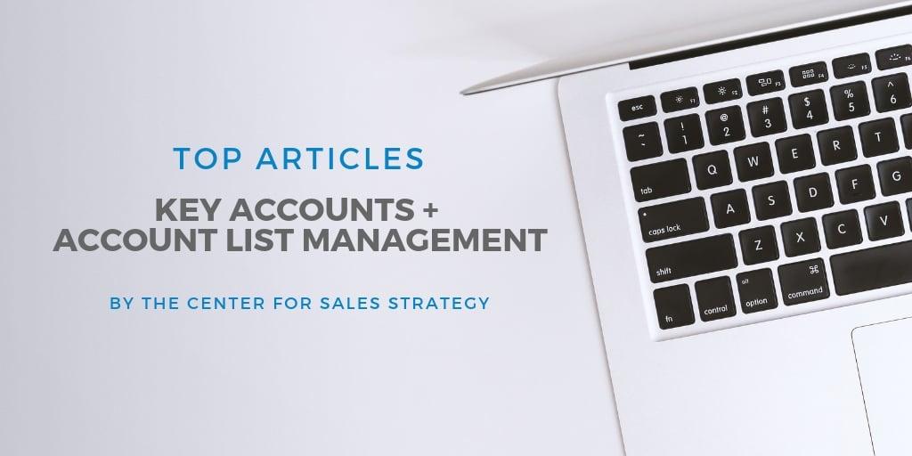 best blog posts key accounts and account list management