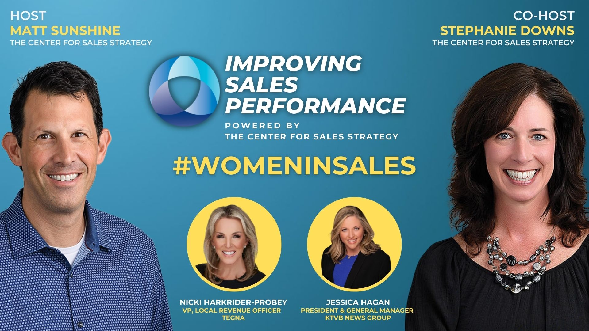 #WomenInSales Month with Guests Nicki Harkrider-Probey and Jessica Hagan