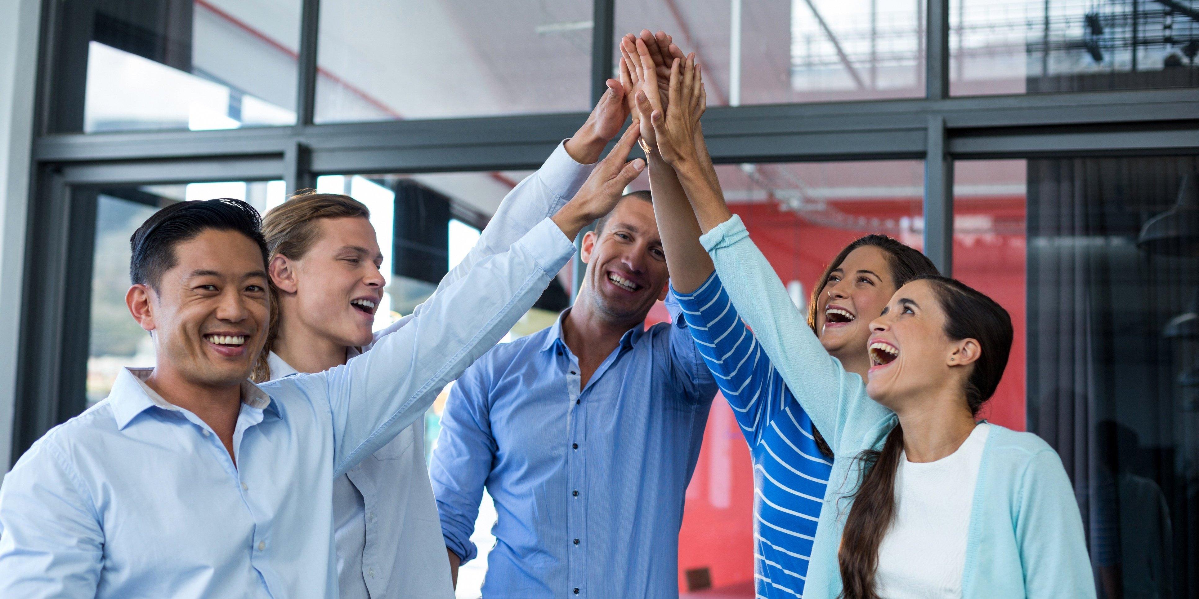 salespeople building relationships