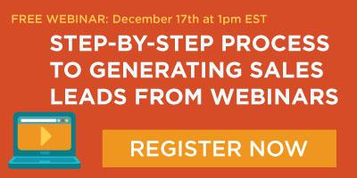 Generate Sales Leads from Webinars