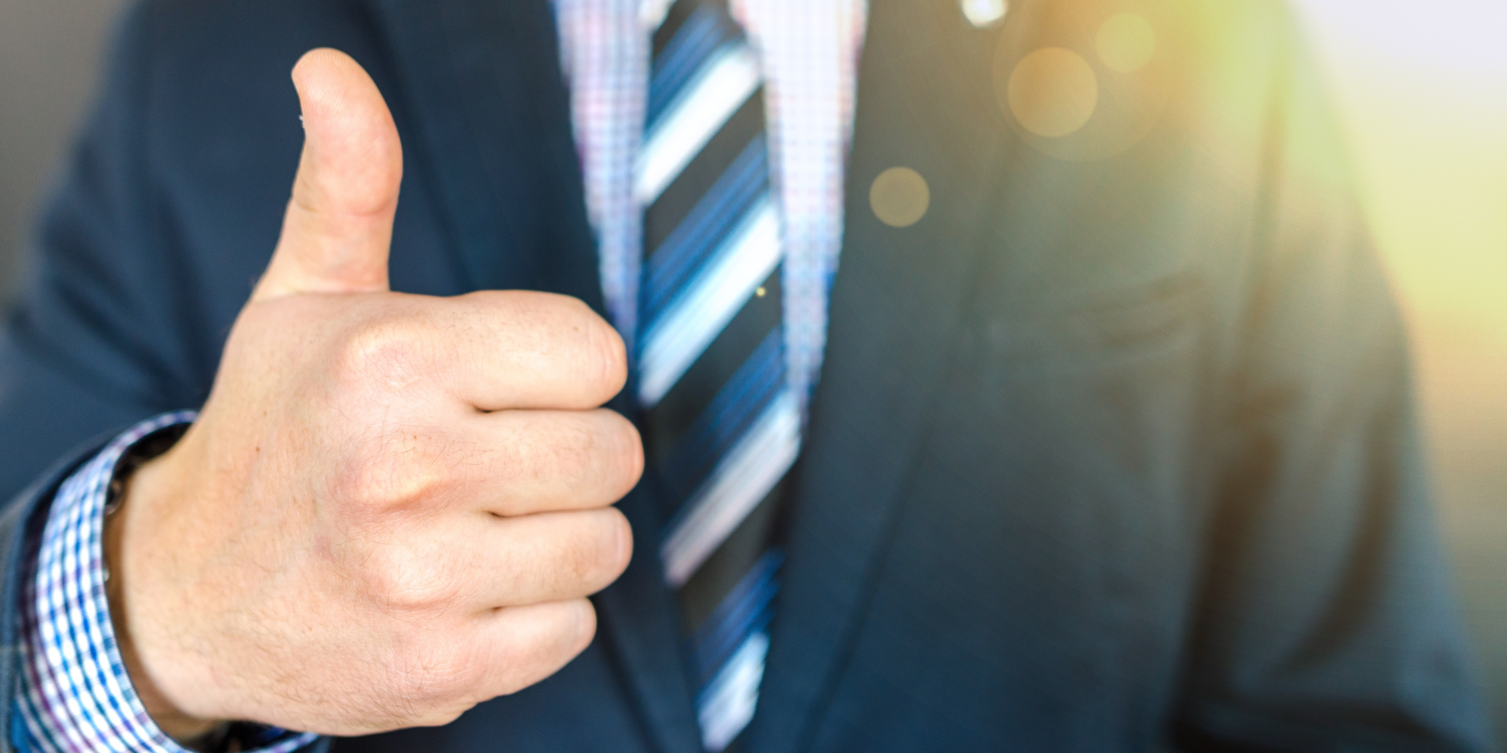 thumbs up happy employee recruitment